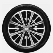 16 inch 8 spoke graphite painted diamond turned alloy wheel with tyre