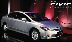 Honda civic silver color