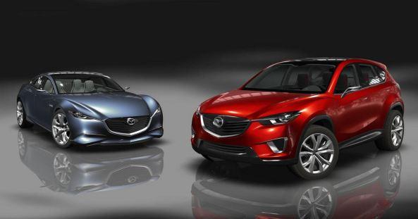 Mazda minagi red and mazda car