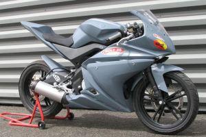 Yamaha YZF R125 racing bike opn paddock stand