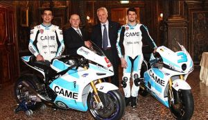 CAME Ioda Moto GP racing bike with Danilo Petrucci and Moto 2 bike with Simone Corsi