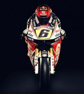 LCR Honda RC213V Mopto GP bike with rider Stefan Bradl on board