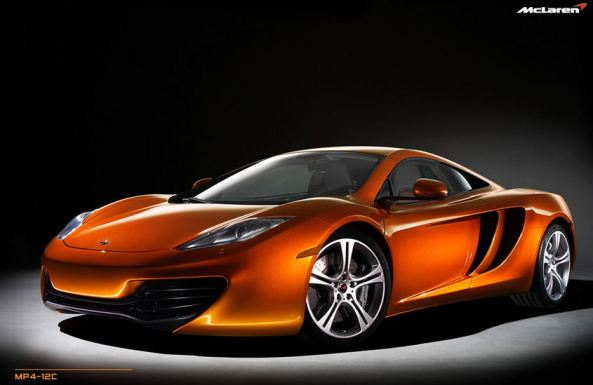Orange color Mclaren MP4-12C  front view