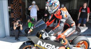 colin edwards on his BMW S1000RR engine suter chassis Moto GP CRT bike from NGM Forward racing