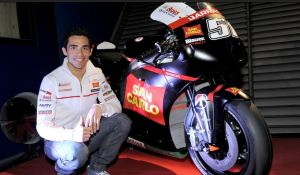 Michael Pirro with his San Carlo Gresini Honda CRT which uses a Honda CBR1000RR engine