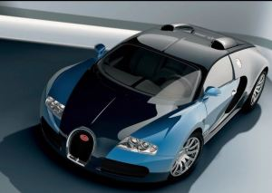 Blue and Black Bugatti veyron EB 16.4