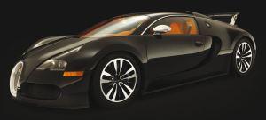 Bugatti Veyron Sang noir front view