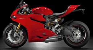 side view of a red color ducati 1199 panigale S