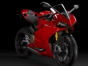 Red color Ducati 1199 Panigale S
