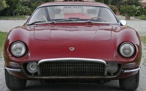 front view of red color Lamborghini GT monza